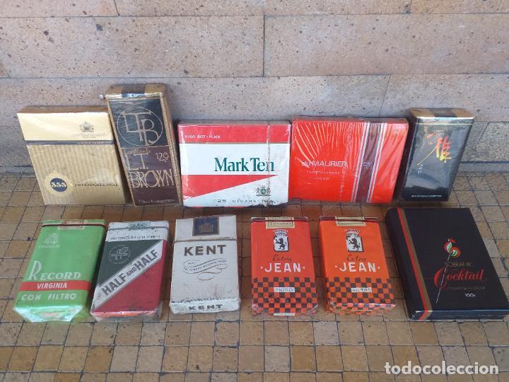 LOTE DE 11 CAJETILLAS DE TABACO CIGARRILOS ANTIGUAS DE DIFERENTES MARCAS - LAS DE LA FOTO (Coleccionismo - Objetos para Fumar - Paquetes de tabaco)
