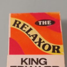 Paquetes de tabaco: RETRO VINTAGE CARTERITA CERILLAS RELAXOR,KING EDWARD CIGARS. Lote 257640365