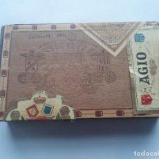 Paquetes de tabaco: ANTIGUA CAJA MADERA PUROS TABACOS AGIO RV. Lote 260803165