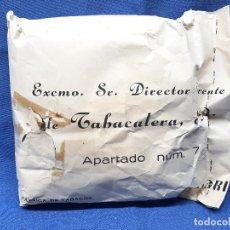 Paquetes de tabaco: FABRICA DE TABACOS DE ALICANTE, TABACALERA S.A. GRAN SOBRE LLENO DE PICADURA DE LA EPOCA.. Lote 261948480