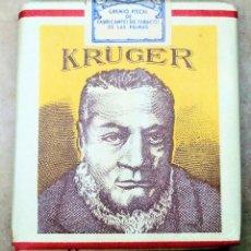 Paquetes de tabaco: 1 ANTIGUA ('60S-'70S) CAJETILLA CON CIGARRILLOS - NUNCA ABIERTA - 'KRÜGER' (AMARILLO). Lote 227763310
