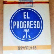 Paquetes de tabaco: 1 ANTIGUA ('60S-'70S) CAJETILLA CON CIGARRILLOS - NUNCA ABIERTA - 'EL PROGRESO' (FILTRO - AZUL). Lote 237094340