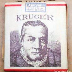Paquetes de tabaco: 1 ANTIGUA ('60S-'70S) CAJETILLA CON CIGARRILLOS - NUNCA ABIERTA - 'KRÜGER' (ARROZ) - MUY RARA. Lote 60116955