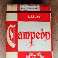Paquetes de tabaco: 1 ANTIGUA ('60S-'70S) CAJETILLA CON CIGARRILLOS - NUNCA ABIERTA - 'CAMPEÓN' (LUJO) - CANARIA - RARA. Lote 49471431