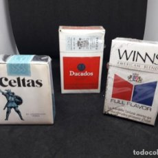 Paquetes de tabaco: LOTE 3 PAQUETES DE TABACO. PRECINTADOS SIN ABRIR. Lote 263118505
