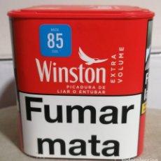 Paquetes de tabaco: BOTE VACÍO DE PICADURA DE LIAR O ENTUBAR WINSTON EXTRA VOLUME - 30 GRAMOS -. Lote 263194765