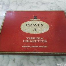 Paquetes de tabaco: CAJA VACIA TABACO CRAVEN. Lote 263211385