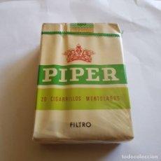 Paquetes de tabaco: PAQUETE DE TABACO PIPER MENTOLADO (PRECINTADO). Lote 264350509
