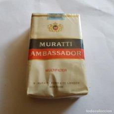 Paquetes de tabaco: PAQUETE DE TABACO MURATTI AMBASSADOR (PRECINTADO). Lote 264350814