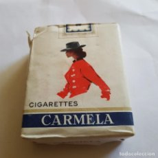 Paquetes de tabaco: PAQUETE DE TABACO CARMELA (PRECINTADO). Lote 264354869