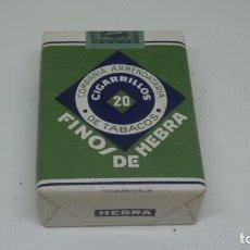 Paquetes de tabaco: ANTIGUO PAQUETE DE TABACO DE PICADURA . FINOS DE HEBRA . COMPRAÑIA ARRENDATARIA DE TABACOS .. Lote 265906948
