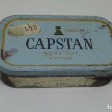 Paquetes de tabaco: ANTIGUA CAJA METALICA CON TABACO DE PICADURA . CAPSTAN NAVY CUT . MEDIUM .. Lote 265912378