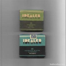 Paquetes de tabaco: 2 PAQUETES DE TABACO. IDEALES. 18 CIGARRILLOS HEBRA PAPEL TRIGO Y SELECTOS AL CUADRADO PAPEL BLANCO.. Lote 266834314