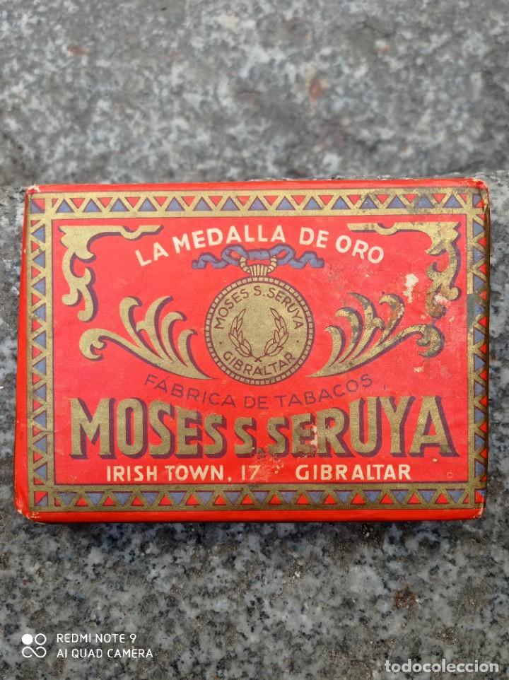 ANTIGUO PAQUETE DE PICADURA DE TABACO MOSESS SERUYA, GIBRALTAY (Coleccionismo - Objetos para Fumar - Paquetes de tabaco)