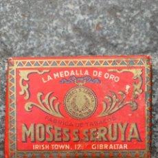 Paquetes de tabaco: ANTIGUO PAQUETE DE PICADURA DE TABACO MOSESS SERUYA, GIBRALTAY. Lote 268914624