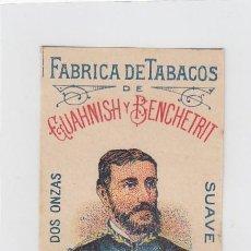 Paquetes de tabaco: DOCTOR GENARO. GUAHNISH Y BENCHETRIT. TANGER. FRONTAL DE CUARTERÓN DE TABACO.. Lote 269142213