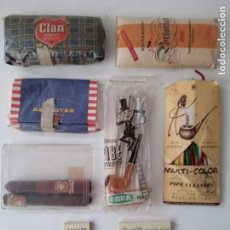 Paquetes de tabaco: LOTE DE ANTIGUO TABACO PARA LIAR Y DE PIPA PARA ENCENDER. Lote 269290953