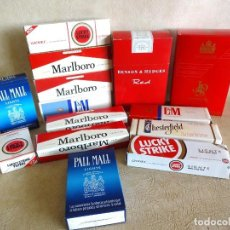 Paquetes de tabaco: LOTE CARTONES TABACO VACIOS MARLBORO LUCKY STRIKE PALL MALL L&M..... Lote 269710438