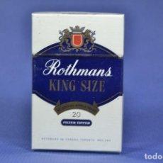 Maços de tabaco: ANTIGUO PAQUETE DE TABACO LLENO DE LA MARCA ROTHMANS KING SICE. Lote 275671123