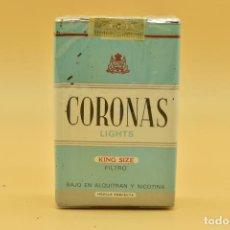 Maços de tabaco: ANTIGUO PAQUETE DE TABACO LLENO DE LA MARCA CORONAS LIGHTS. Lote 275906878