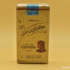 Maços de tabaco: ANTIGUO PAQUETE DE TABACO LLENO DE LA MARCA CLEOPATRA 100. Lote 275908958
