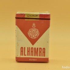 Maços de tabaco: ANTIGUO PAQUETE DE TABACO LLENO DE LA MARCA ALHAMRA. Lote 275910303