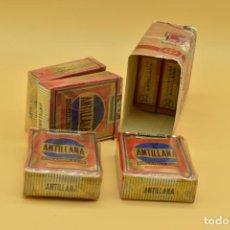 Maços de tabaco: 6 PAQUETES DE TABACO LLENOS DE LA MARCA ANTILLANA Y UN TROZO DEL PAPEL DEL CARTON. Lote 275913098