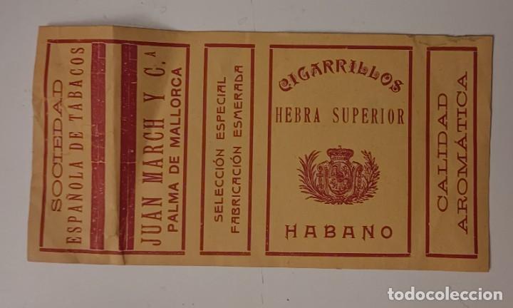 CIGARRILLOS HABANO - SOCIEDAD ESPAÑOLA DE TABACOS PAPEL ENVOLTURA DE CAJA DE CIGARRILLOS (Coleccionismo - Objetos para Fumar - Paquetes de tabaco)