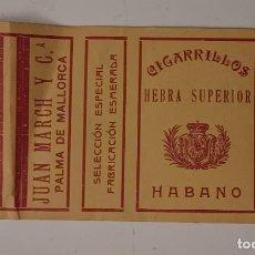 Paquetes de tabaco: CIGARRILLOS HABANO - SOCIEDAD ESPAÑOLA DE TABACOS PAPEL ENVOLTURA DE CAJA DE CIGARRILLOS. Lote 276229813