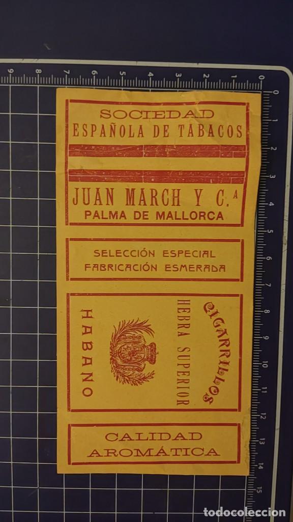 Paquetes de tabaco: CIGARRILLOS HABANO - SOCIEDAD ESPAÑOLA DE TABACOS Papel envoltura de caja de cigarrillos - Foto 2 - 276229813