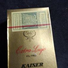 Paquetes de tabaco: PAQUETE DE TABACO * KAISER EXTRA LUJO * PRECINTADO. Lote 277155258