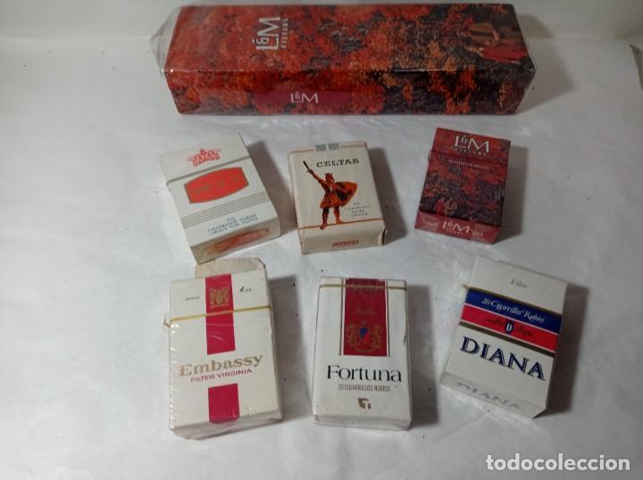 LOTE PAQUETE PAQUETES TABACO TABACOS CIGARROS CIGARRILLOS VARIAS MARCAS. ORIGINAL NO COPIA. REF.AUTO (Coleccionismo - Objetos para Fumar - Paquetes de tabaco)