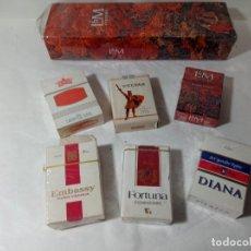 Paquetes de tabaco: LOTE PAQUETE PAQUETES TABACO TABACOS CIGARROS CIGARRILLOS VARIAS MARCAS. ORIGINAL NO COPIA. REF.AUTO. Lote 277251708