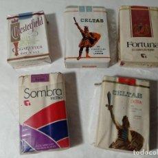 Paquetes de tabaco: LOTE PAQUETE PAQUETES TABACO CIGARROS CIGARRILLOS.ORIGINAL NO COPIA. REF.AUTO. Lote 277251873