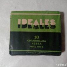 Paquetes de tabaco: ANTIGUO PAQUETE TABACO IDEALES 18 CIGARRILLOS. ORIGINAL NO COPIA. REF.AUTO. Lote 277252643