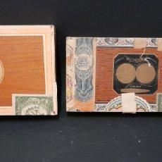 Paquetes de tabaco: CAJAS DE PUROS HABANOS MUNDIAL BLANCO Y GONZALEZ H.UPMANN HABANA. Lote 278171888