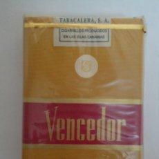 Paquetes de tabaco: PAQUETE DE CIGARRILLOS PRECINTADO MARCA VENCEDOR... Lote 285208863