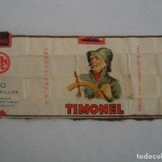 Paquetes de tabaco: ENVOLTORIO ANTIGUO DEL PAQUETE DE TABACO MARCA TIMONEL. Lote 286602883