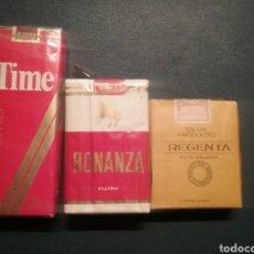 Paquetes de tabaco: PAQUETES DE TABACO ANTIGUO TIME BONANZA Y REGENTA. Lote 288222523