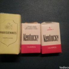 Paquetes de tabaco: PAQUETES DE TABACO ANTIGUO KENTUCKY Y PARISIENNES. Lote 288223243