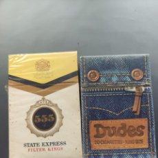 Paquets de cigarettes: PAQUETES DE TABACO ANTIGUO DUDES Y 555. Lote 288218623