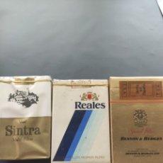 Paquets de cigarettes: PAQUETES DE TABACO ANTIGUO SINTRA REALES BENSON Y HEDGES. Lote 288220343