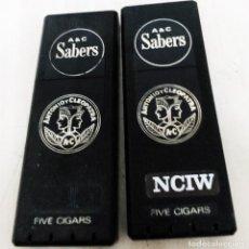 Paquetes de tabaco: 2 CAJAS DE PUROS ANTONIO Y CLEOPATRA DE SABERS FABRICADOS EN USA VACIAS MIDEN 15,5/5,5/1,5 CM. Lote 289761538