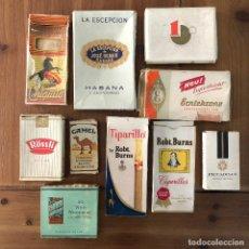 Paquetes de tabaco: LOTE NUMERO 2 CAJETILLAS CIGARROS PUROS VACIAS LA ESCEPCION CHIQUITO CAMEL WILD WOODBINE TIPARILLO... Lote 290009293