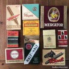 Paquetes de tabaco: LOTE NUMERO 3 CAJETILLAS TABACO CIGARROS PUROS THREE CATS BENSON AND HEDGES XANTHIA PLAYER´S MERCAT. Lote 290027783