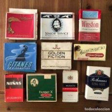 Paquetes de tabaco: LOTE NUMERO 4 CAJAS VACIAS CIGARRILLOS PUROS ROTHMANS EXPORT A GITANES NIÑAS GOLDEN FICTION MURATTI. Lote 290029998