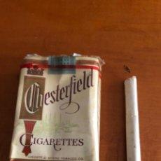 Paquetes de tabaco: ANTIGUO PAQUETE DE CHESTERFIEL AMERICANO. Lote 290063283