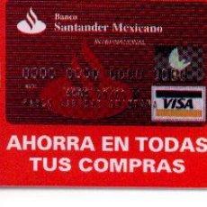 Tarjetas telefónicas de colección: 16-367. MÉXICO BANCO SANTANDER. Lote 32014
