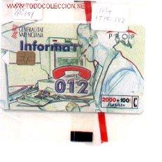 Tarjetas telefónicas de colección: 15-122. TARJETA TELEFÓNICA. 012 GENERALITAT. Lote 9980733