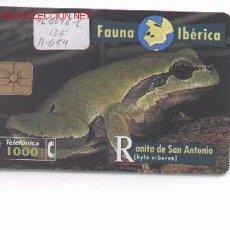 Tarjetas telefónicas de colección: 15-73. ESPAÑA USADA. RANITA SAN ANTONIO. Lote 201279
